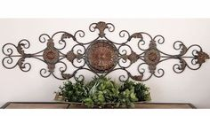 Large Tuscan Old World Decorative Scroll Wrought Iron Wall Grille Art Plaque NEW Tuscan Design, Tuscan Style, Metal Wall Sculpture, Wall Sculptures, Grilling Art, Tuscan Furniture, Old World Kitchens, Pvc Wall Panels, Mediterranean Home Decor