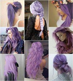 Possivelmente eu pintarei meu cabelo de roxo na próxima vez!