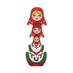 Merry Matryoshka Holiday Cards - Set of 8 in color Account History, 3d Cards, Hanging Ornaments, Moma, New Kids, White Envelopes, Holiday Cards, Design Elements, Merry Christmas