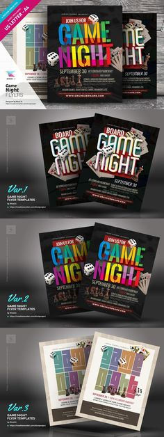 Game Night Flyer Invitation Pinterest Game Night Retro Party