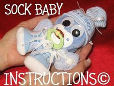 Instructions for a SOCK BABY. Learn how to make this adorable Baby Gift or Diaper Cake Topper.. $6.99, via Etsy.