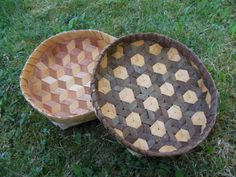 Mad weave baskets made of willow bark and birch bark