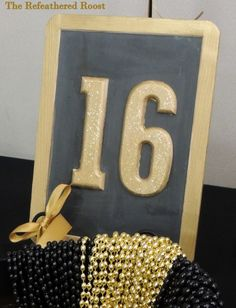 Party With A Purpose: A Sweet Sweet Sixteen black and gold themed birthday party to benefit a cancer patient