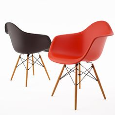 Free 3d model: Armchair DAW by Vitra Eames http://dimensiva.com/armchair-daw-by-vitra-eames/