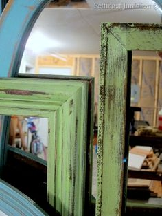 DIY, Painted mirrors and picture frames, Petticoat Junktion