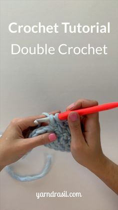 Double Crochet Tutorial Are you learning how to crochet. Double Crochet Tutorial Are you learning how to crochet? Crochet Stitches For Beginners, Beginner Crochet Tutorial, Beginner Crochet Projects, Crochet Instructions, Crochet Stitches Patterns, Crochet Videos, Crochet Basics, Sewing Projects, Sewing Tips