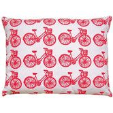 Found it at AllModern - Bike All Over Pattern Block Print Accent Pillow