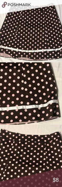 Polka dot skirt size 16 petite Not sure on Brand/ was part of a two piece set- no longer have the jacket/ Size 16p/ Great Condition/ side zipper/ Smoke free home/ Please ask questions/ Offers are welcome and encouraged/ Happy Poshing! Skirts