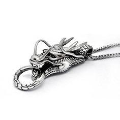Wishfan Men's Dragon Head Shape Stainless Steel Necklace Wishfan http://www.amazon.com/dp/B017IKU0B8/ref=cm_sw_r_pi_dp_0mvqwb0937RKR
