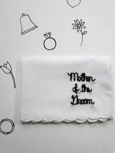 Mother of the Bride Gift Wedding Handkerchief l Mother of the Groom Keepsake Handkerchief
