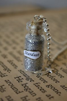 Glass Vial Necklace  Stardust by spacepearls on Etsy, $12.00