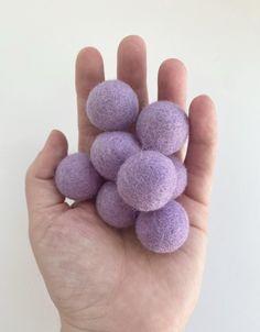 Lilac - 2 cm Felt Pom Pom Balls - 5 felt balls