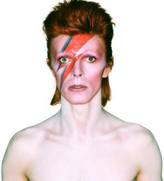 The iconic bowie stripe. Appalling that this has not been used to further the cause of sparkle motion.