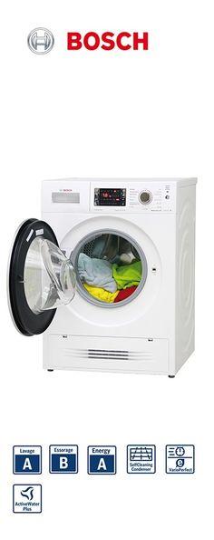 Lave-linge séchant | Capacité : 7kg lavage - 4kg séchage | Volume du tambour : 56L