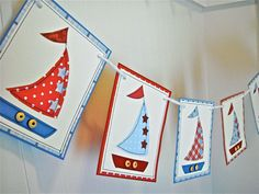 Sailboat Banner Baby Shower Banner Baby Boy by SweetGeeseTreats, $25.00