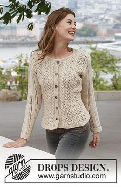 Ideas for crochet sweater cardigan pattern drops design Sweater Knitting Patterns, Lace Knitting, Knitting Designs, Knit Crochet, Knitting Stitches, Drops Design, Cardigan Pattern, Sweater Cardigan, Lace Patterns