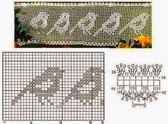 Puntillas vintage / esquemas ganchillo   Crochet y Dos agujas