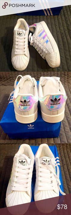✨BNIB Adidas Unicorn Superstar✨ BNIB Women's Adidas Superstar in Rare Unicorn Iridescent Size 6.5 Runs big fits a 6.5 to a true size 7. Adidas Shoes Sneakers