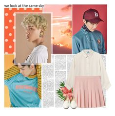 """""""Lucky One - Kai + Suho + Chen"""" by julia-ngo ❤ liked on Polyvore featuring RIFLE, Monki and Charlotte Olympia"""