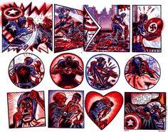 Captain America by Peter Kuper