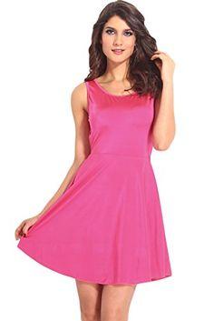 Dear-Lover Women's Glowing Slash Scoop out Skater Dress Medium Size Pink Dear-Lover http://smile.amazon.com/dp/B00M6RQMJI/ref=cm_sw_r_pi_dp_VOZrub12HTCPH