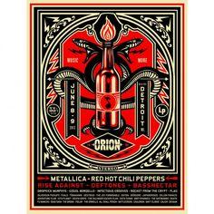 Poster de Orion Music + More Fest de Shepard Fairey