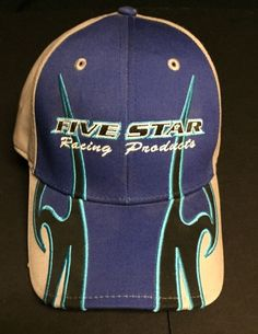 Five Star Racing Products Blue Gray Cap Hat #RaceWear #BaseballCap