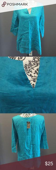 Nwt tunic Color is aquamarine, J. Jill Tops Tunics