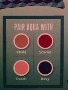 Colors to wear with aqua