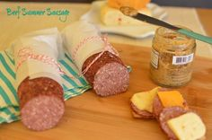 Easy beef summer sausage No preservatives! Full of flavor! Easy to make! Easy beef summer sausage No preservatives! Full of flavor! Easy to make! Homemade Summer Sausage, Summer Sausage Recipes, Meat Recipes, Cooking Recipes, Recipies, Jerky Recipes, Sauce, Food To Make, Yummy Food