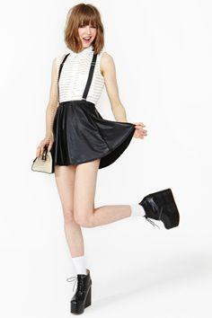 Cool kjol med t shirt