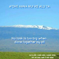 """""""No task is too big when done together by all"""""""
