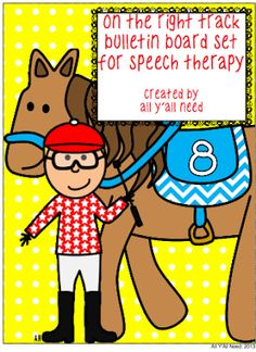 All Y'all Need: On the Right Track Speech/Language Bulletin Board Set and Giveaway
