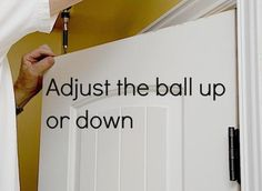 adjust the ball up or down
