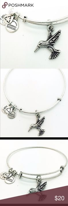 """Alex and Ani Hummingbird EWB RS New without Tags!!                                                                                               Pictures by me!                                                                               ALEX AND ANI products are proudly designed&crafted in America&made with love. ALEX AND ANI products are infused with positive energy. Ancients referred to this precious energy as """"chi"""" & """"prana,"""" whereas modern science refers to it as vital force. It is the…"""