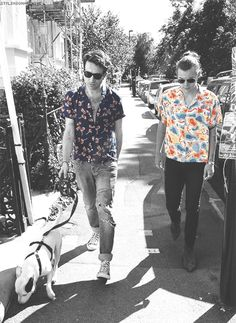 We are obsessed with this fancy tumblr gif of Harry Styles and Nick Grimshaw casually walking down the street  - Sugarscape.com