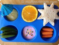 "muffin tin meals #muffintinmeals ""fun in the sun"" theme"