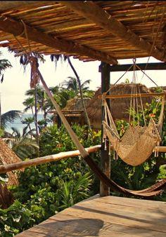 Just kick back and hang. Tulum, Mexico