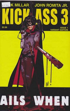 Kick Ass 3 Kick-Ass is a creator-owned comic book series written by Mark Millar and illustrated by John Romita, Jr. It is published by Marvel Comics under the company's Icon imprint. #kickass #markmillar #johnromitajr