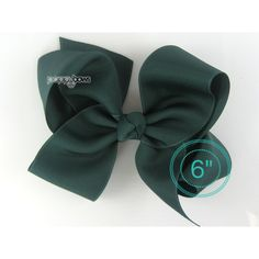 Extra Large Hair Bow Evergreen Hair Bow 6 6 Inch Hair Bows Big Bow... ($7.95) ❤ liked on Polyvore featuring accessories, hair accessories, barrettes & clips, grey, bow hair clips, ribbon hair bows, barrette hair clips, ribbon hair clips and hair bows