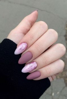 Matte and glitter gel nails pink glitter nails, baby pink nails acrylic, classy acrylic Colorful Nail Designs, Acrylic Nail Designs, Nail Art Designs, Glitter Nail Designs, Colourful Nails, Gorgeous Nails, Pretty Nails, Fun Nails, Fabulous Nails