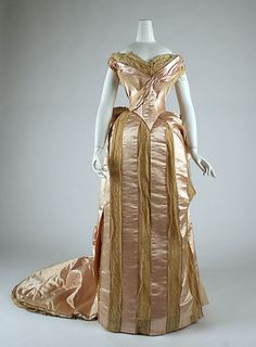 "omgthatdress:  "" Evening Dress  1883-1884  The Metropolitan Museum of Art  """