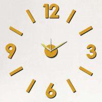 Nalepovacie nástenné hodiny, MPM 3775.80, 75cm Black Dots, Black Silver, London Clock, Pendulum Wall Clock, Diy Clock