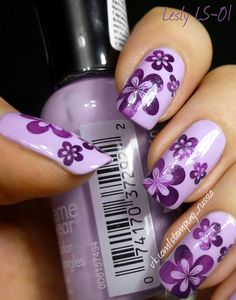 Lesly Stamping Nail Art - (Lesly Plate/Tile - LS-01)