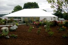 Port Gamble Pavilion. Outdoor tent is great for an outdoor reception.   Snuffin's Catering