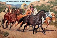 View Into Apache Land by David Mann on artnet. Browse upcoming and past auction lots by David Mann. Native American Artwork, Native American Artists, American Indian Art, Native American History, Native American Indians, Native Indian, Native Art, Arte Equina, Woman Riding Horse