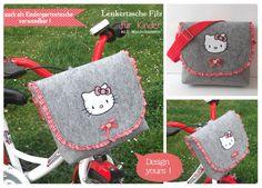 Lenkertasche Filz Kindergartentasche Wollfilz von HaGi by Herzig ♥ Genaehtes auf DaWanda.com