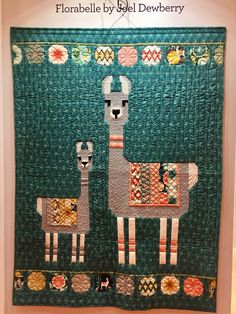 Llama quilt: Florabelle by Joel Dewberry. Spring Market 2017, photo by Catherine Redford