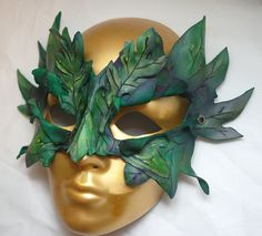 Items similar to Forest Dryad Woodland Leather Greenman or Greenwoman Sprite Cosplay Mask on Etsy Headdress, Headpiece, Ceramic Mask, Leather Mask, Carnival Masks, Venetian Masks, Masks Art, Fantasy Costumes, Pinstriping
