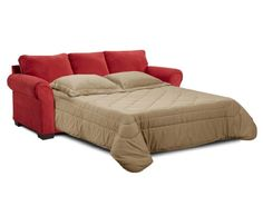 Simmons Aqua Red Elegant Micro Fiber Queen Size Sofa Sleeper Http